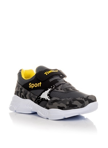 Tonny Black Füme Sarı Çocuk Spor Ayakkabı Tbz02 Füme